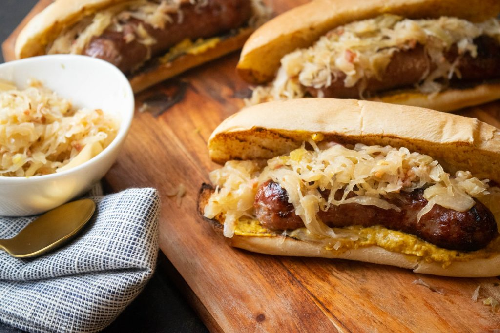 beer bacon and caraway sauerkraut