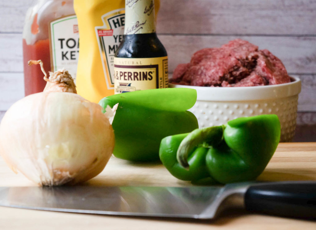 onion green pepper ketchup beef
