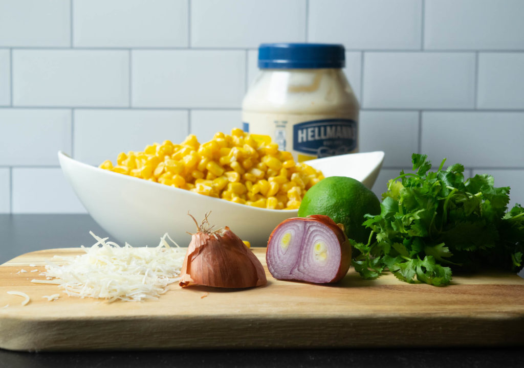 Mexican Street Corn Salad ingredients