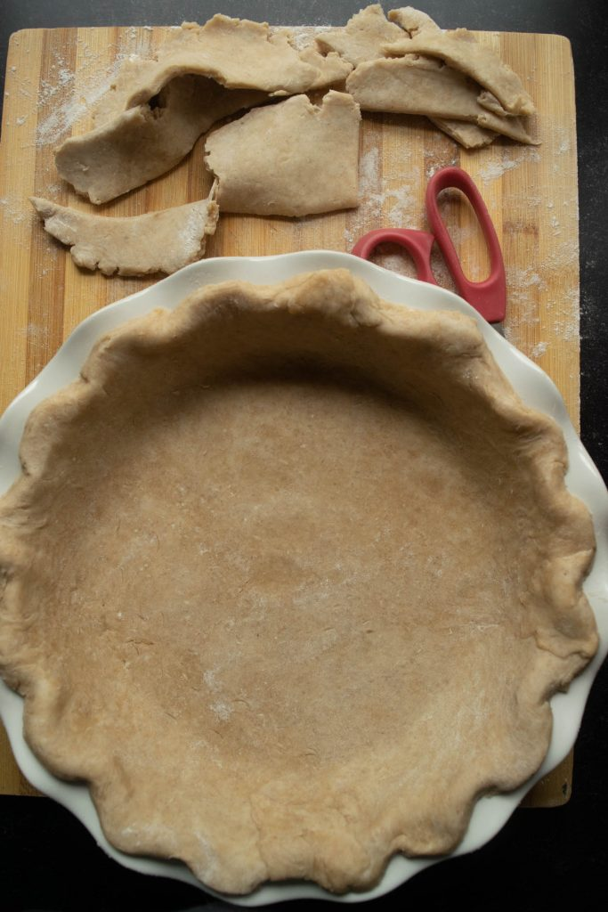 trimming pie crust