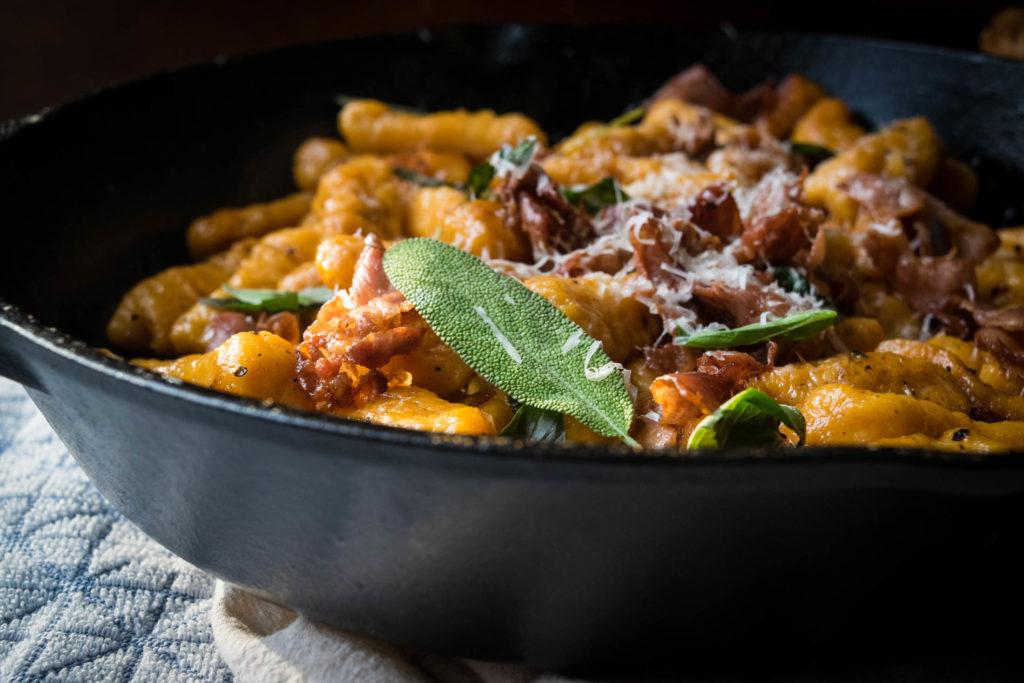 Pumpkin Sweet Potato Gnocchi