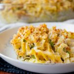 Tuna Noodle Casserole with Cheese Tortellini and Egg Noodles