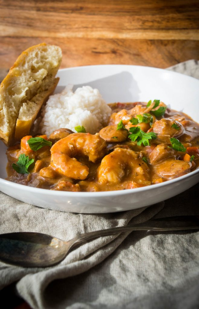 shrimp gumbo with chicken and andouille
