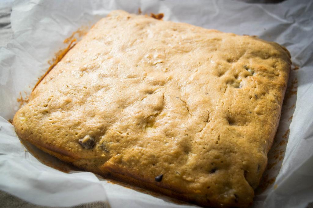 gluten freen banana peanut butter cake