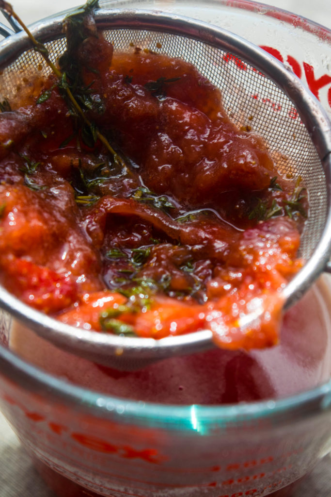 Strawberry thyme simple syrup