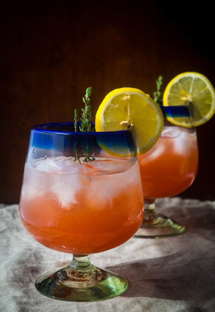 strawberry thyme vodka lemonade