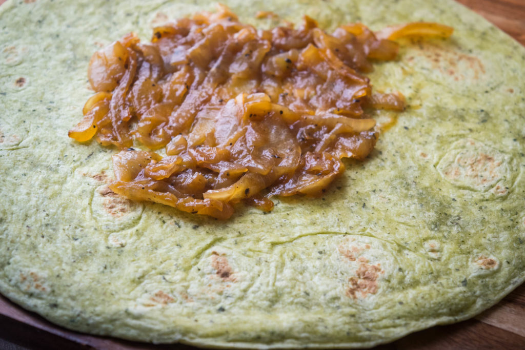 curried lentil  sweet potato wraps