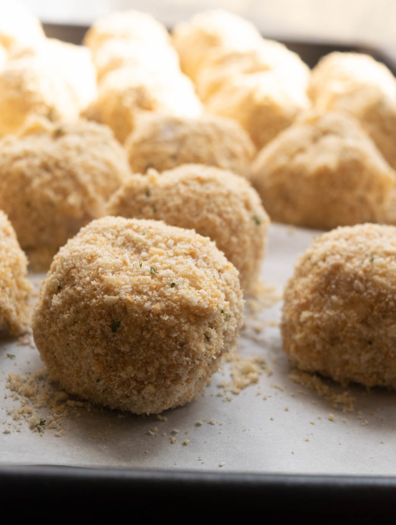 ham and cheddar croquettes breaded