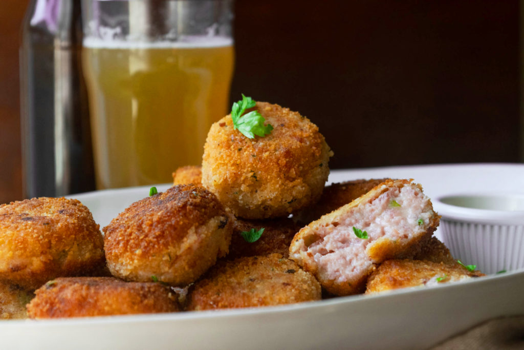 ham and cheddar croquettes