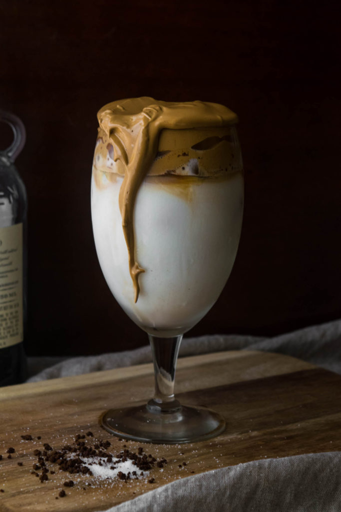 spiked whipped dalgona coffee cocktail