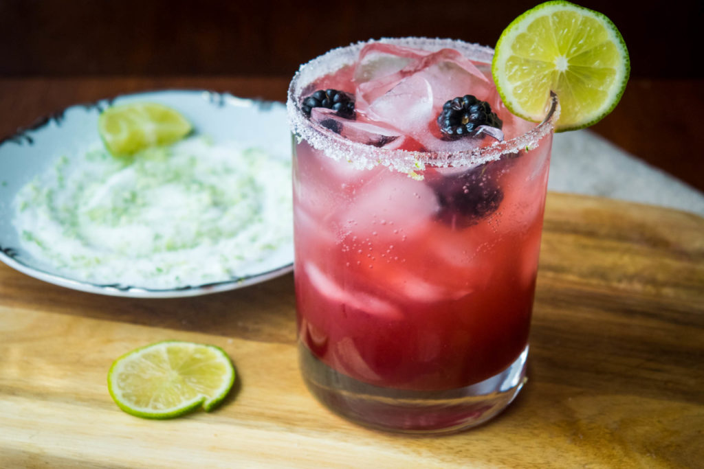 blackberry lime gin margarita