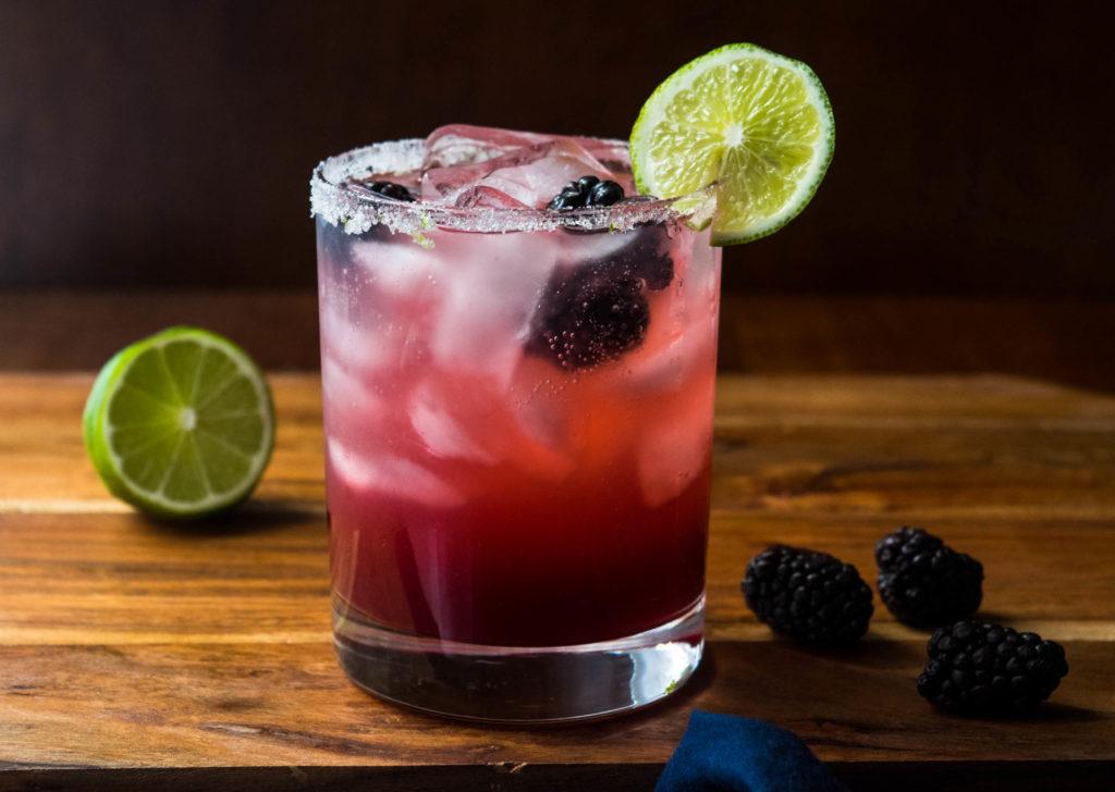 blackberry lime gin margarita