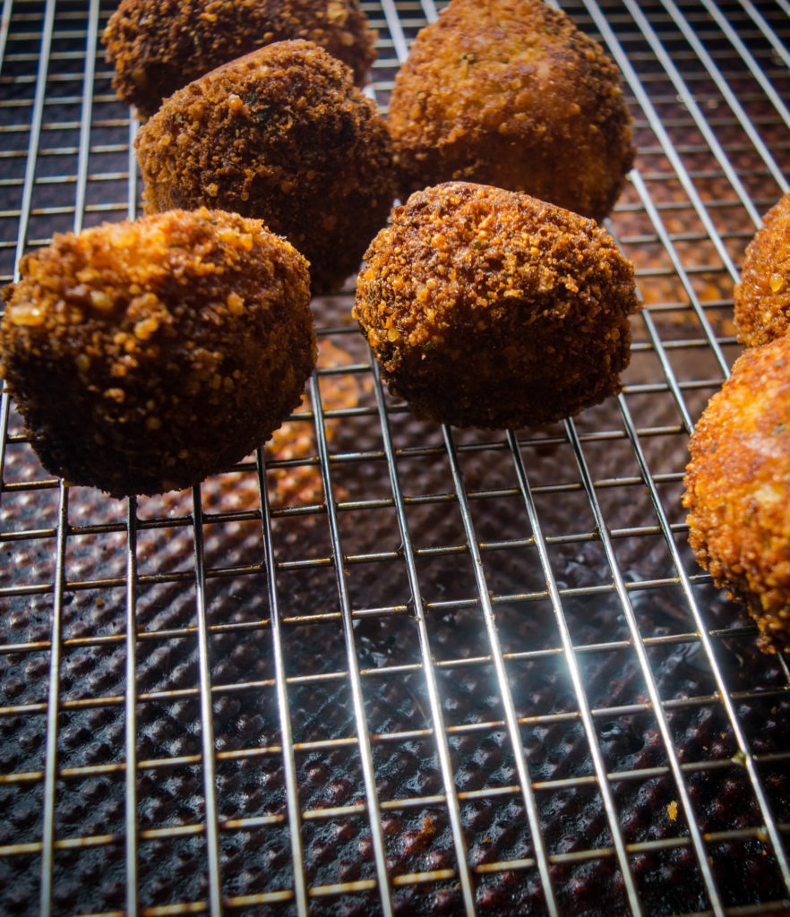 fried scotch quail eggs