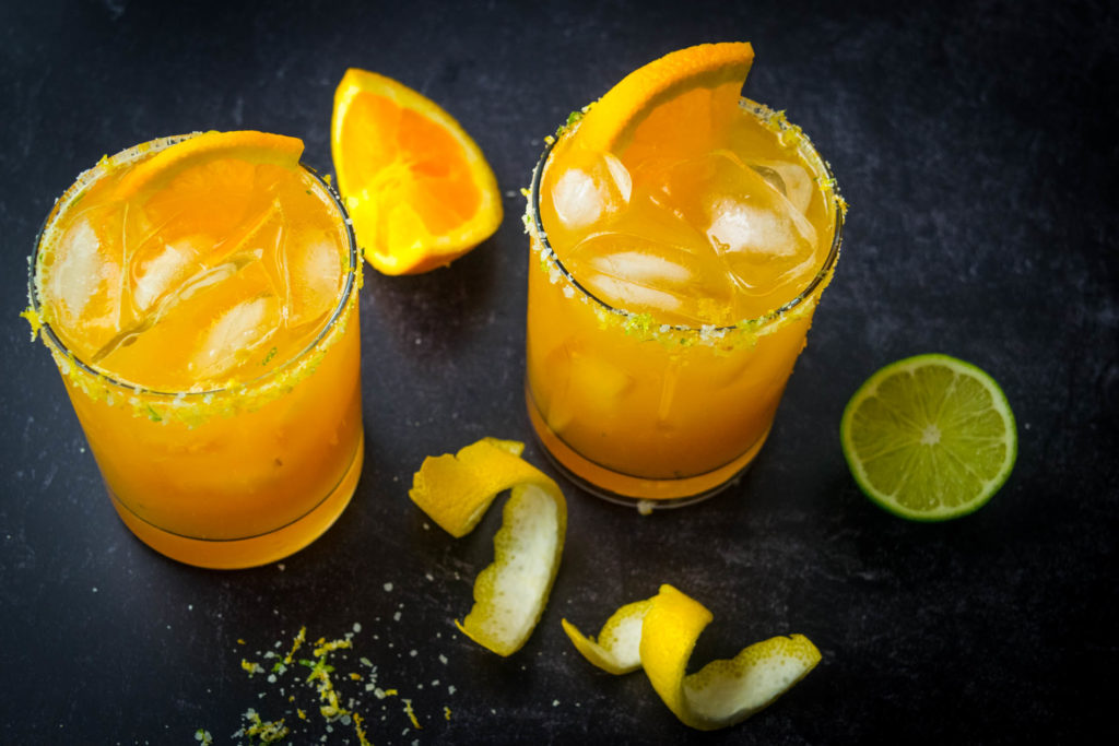 five alive margaritas with citrus salt