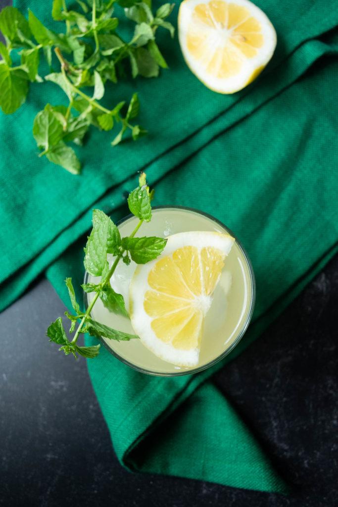 gin mint lemon