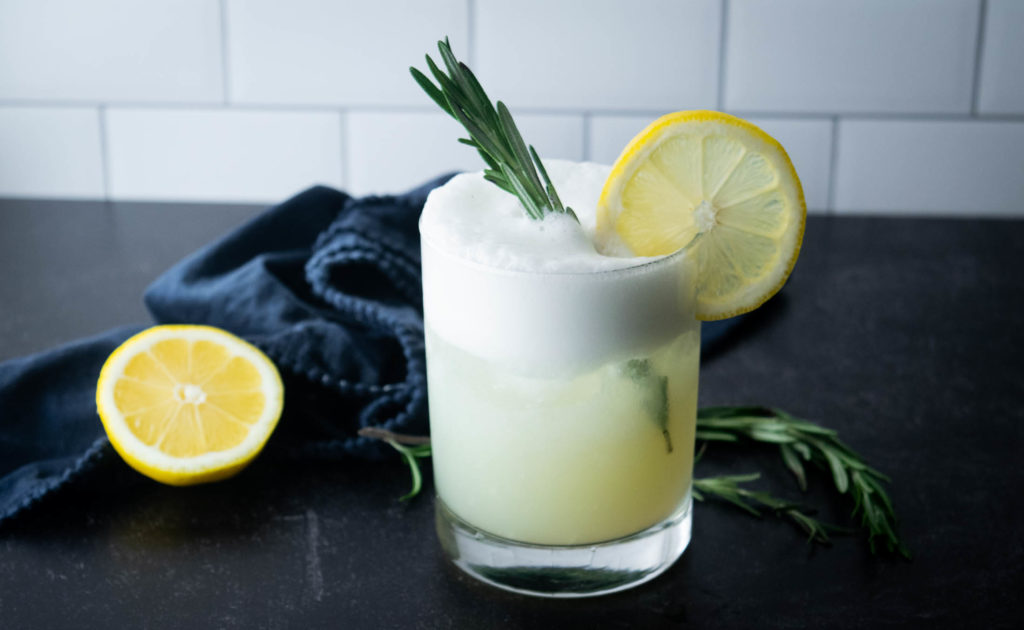 Rosemary Lemon GIn Fizz