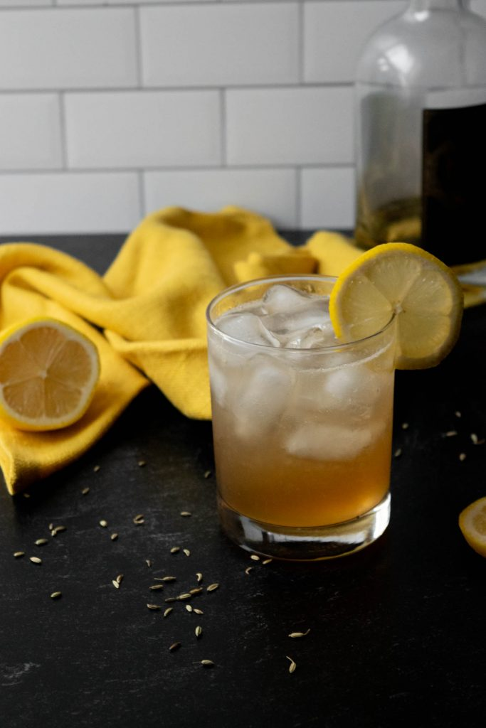 bourbon cocktail with vanilla and bitters