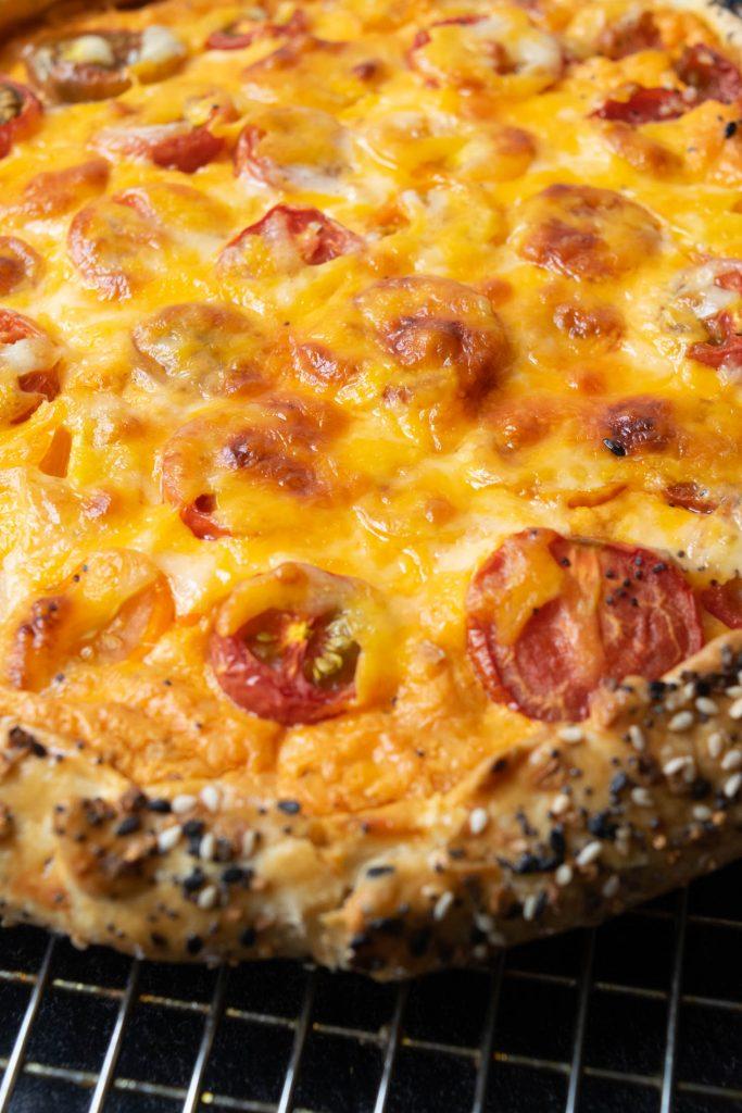 pimento cheese and tomato galette