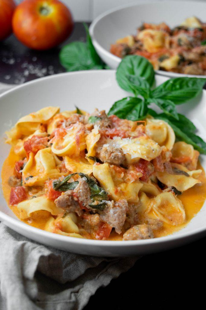 Sausage Tomato Cream Tortellini