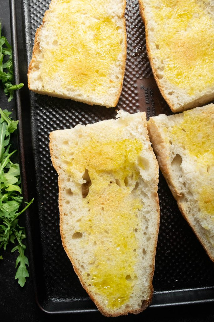 Italian bread brushed with olive oil