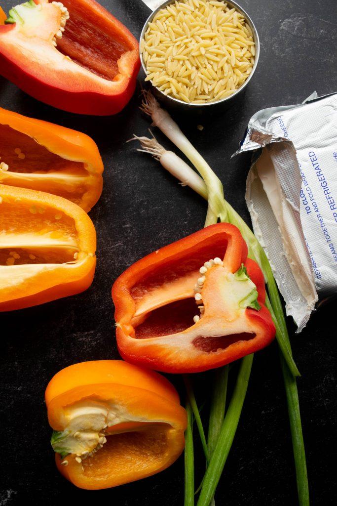 peppers cream cheese scallions