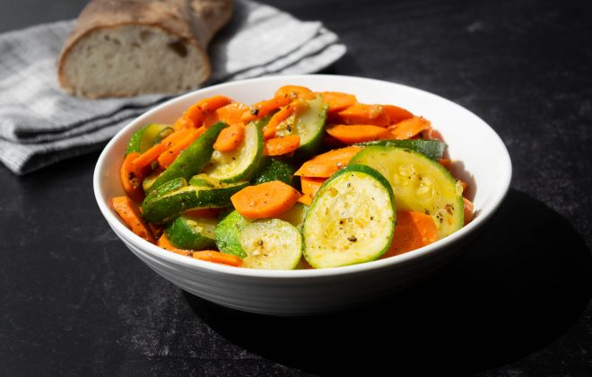 easy zucchini and carrot skillet