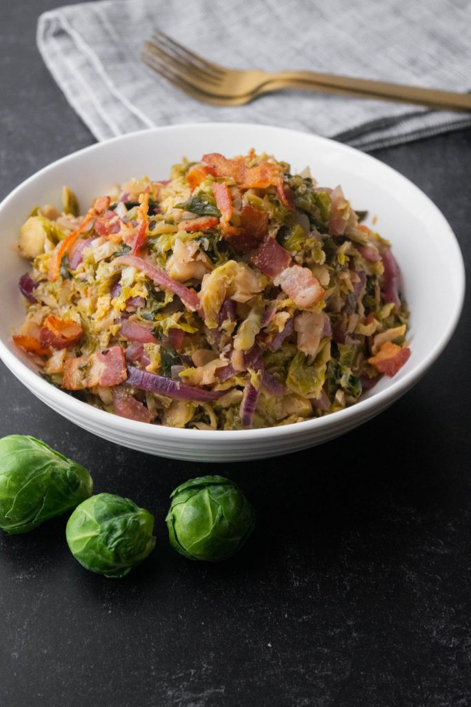 bacon brussels sprout skillet