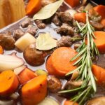 slow cooker beef stew with rosemary and mushrooms