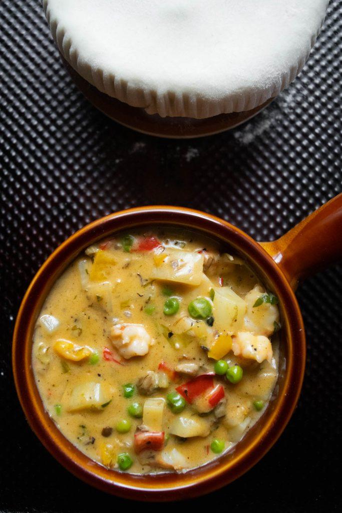 seafood pot pie mixture