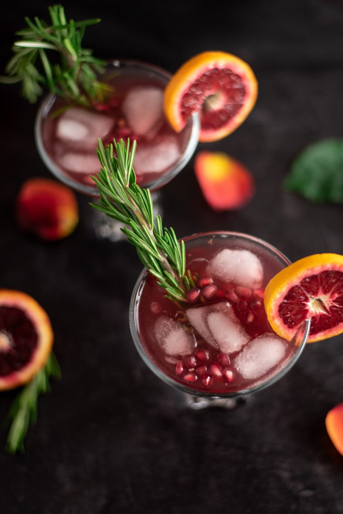 pomegranate blood orange cocktail