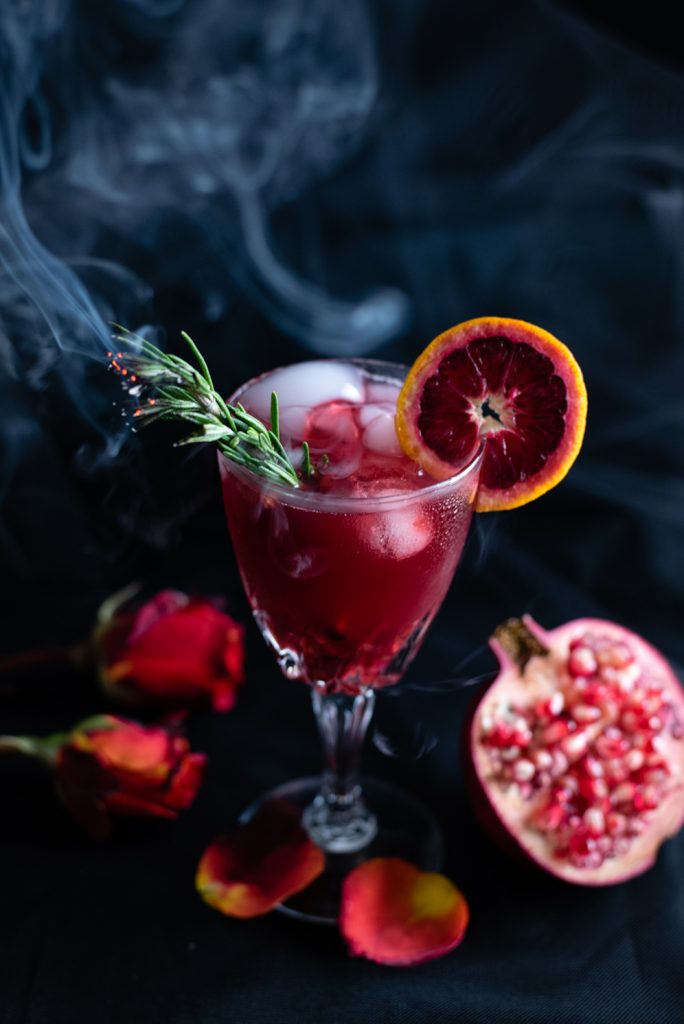 pomegranate rosemary cocktail