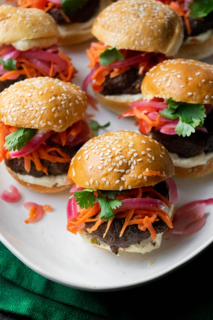 tha burgers with asian slaw