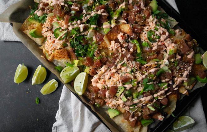 Tuna Poke Nachos