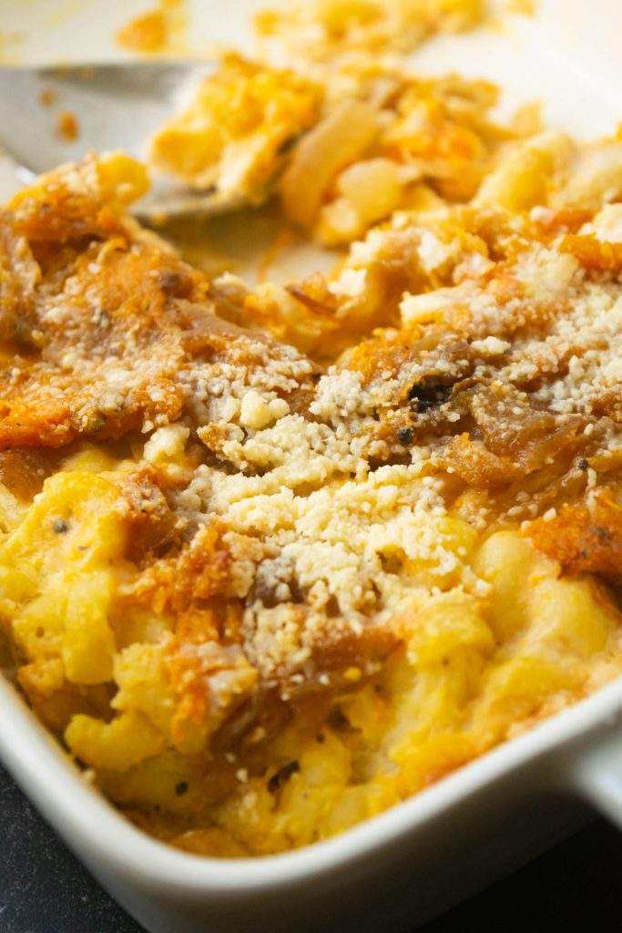 baked butternut mac and cheese