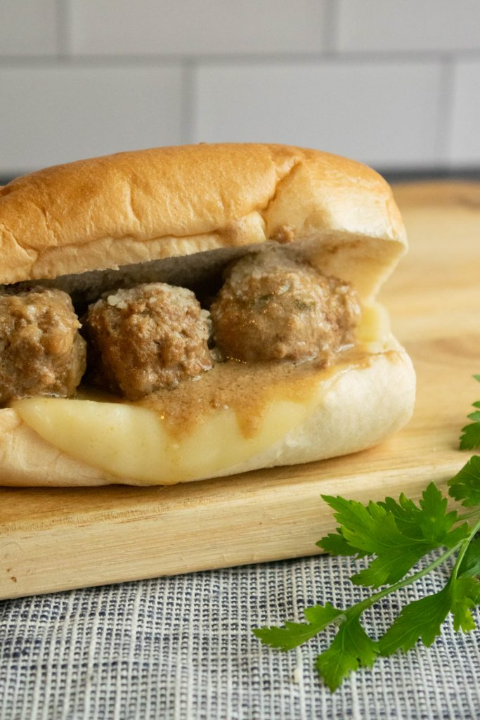 Swedish meatball sandwich