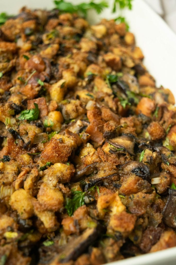 finished baked oyster stuffing