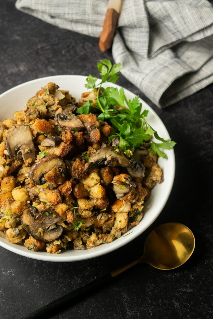 smoked oyster and mushroom stuffing