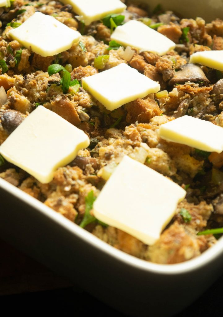 butter on stuffing