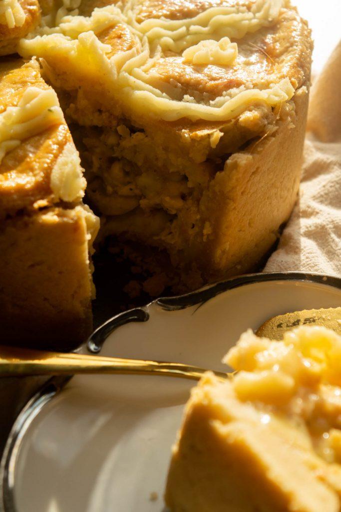 slice of hot water crust  thanksgiving pie