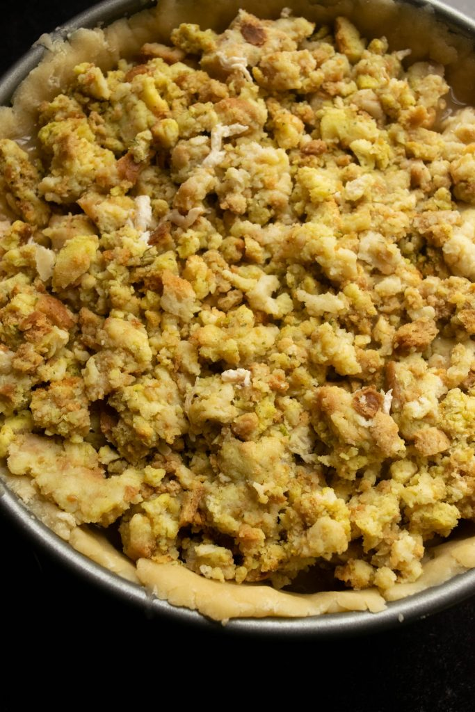 layer the top layer with stuffing