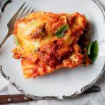 5 cheese sausage and spinach lasagna