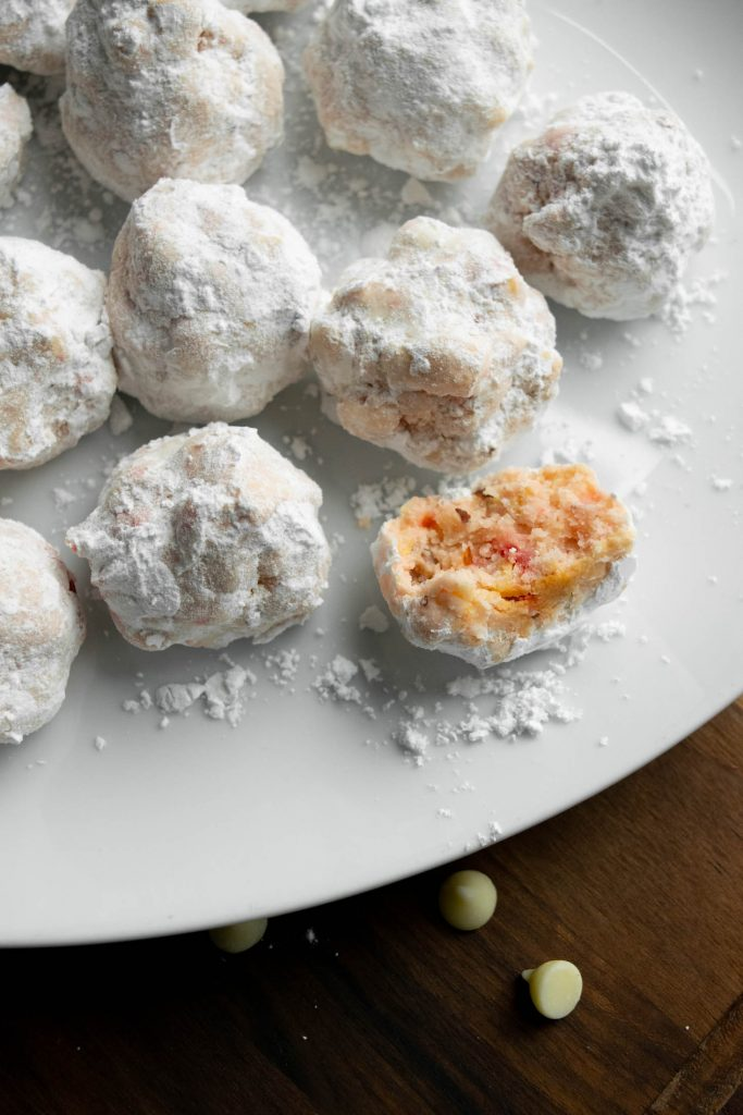 gluten free cherry snowball cookies