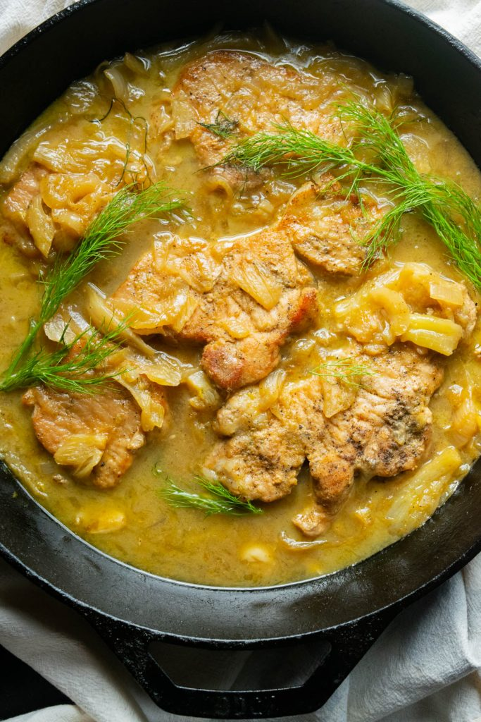 one pan pork chops
