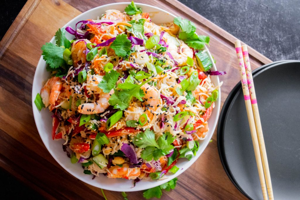thai shrimp noodle salad