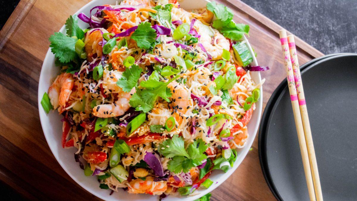 thai shrimp noodle salad