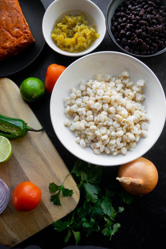 hominy breakfast skillet ingredients