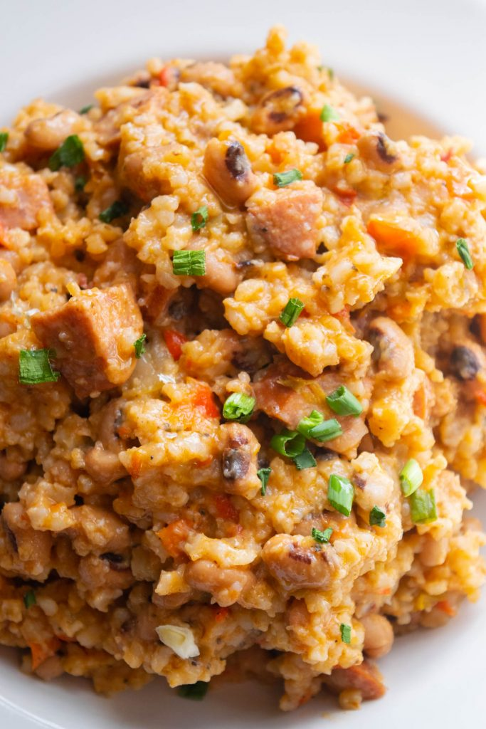 Quick & Easy Hoppin' John with Andouille & Smoked Ham