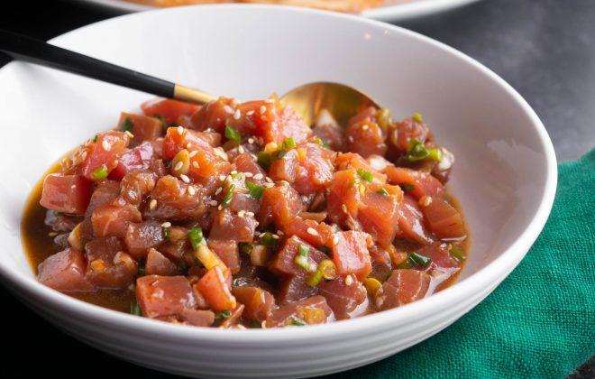 easy tuna poke salad