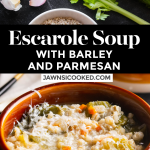 Escarole Soup with Barley and Parmesan