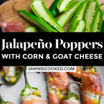 Jalapeño Poppers with Prosciutto, Corn & Goat Cheese